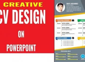 Hướng dẫn cách làm CV bằng powerpoint đẹp dành cho ứng viên